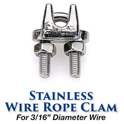 Edson Stainless Steel Wire / Rope Clamp