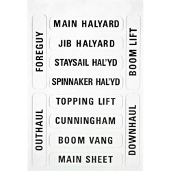 Forespar #201 Nash Sailboat Rigging Labels