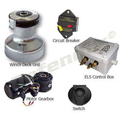 Lewmar 40EST EVO ELS-Series Electric Self Tailing Winch Kit
