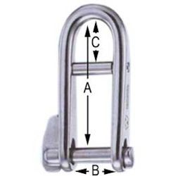 Wichard Key Shackle with Bar - 3/16""