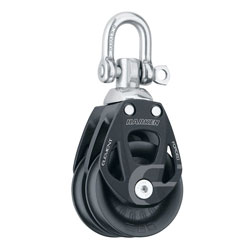 Harken 80 mm Aluminum Element Double Block with Swivel