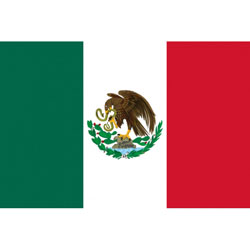 Annin Mexico Courtesy Flag