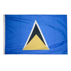 Annin St. Lucia Courtesy Flag