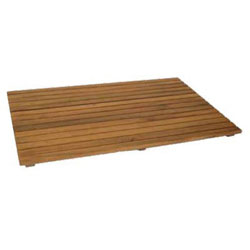 SeaTeak Solid Teak Shower Mat