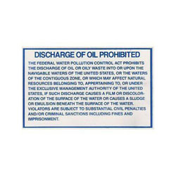 Bernard Flexible Marine Regulation Label - Discharge Of Oil from Vessel