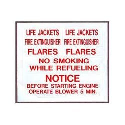 Bernard Indenti-Labels Sheet - Safety