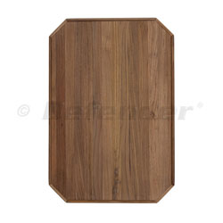 EUDE Venice Teak Table — Cut Corners, Rectangular