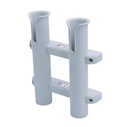 Sea-Dog Plastic 2-Pole Side Mount Fishing Rod Storage Rack - White