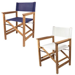 Seateak Folding Director S Chair With Fabric Seat And Back Defender Marine