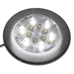 Attwood Round Interior / Exterior LED Light - Exterior