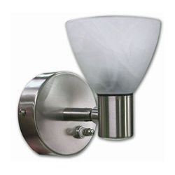 ITC Glass-Shaded Incandescent Reading Light with LED Night Light - Interior