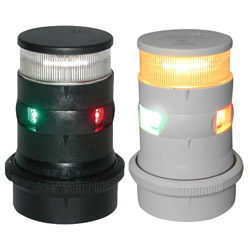 Aqua Signal Series 34 LED Tri-Color / Anchor Navigation Light
