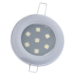 Mast Products 7-Chip LED Ceiling Light - Interior - Chrome, White LEDs