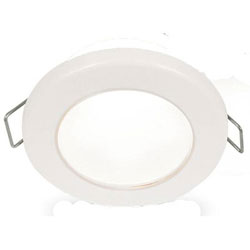 Hella EuroLED 75 LED Down Lights - Spring Mount - 24V Warm White - White Bezel