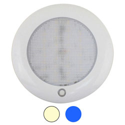 Scandvik Dual-Color Low Profile LED Dome Light