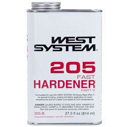 West System 205 Fast Hardener - 27.5 Ounces