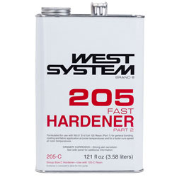 West System 205 Fast Hardener - 121 Ounces