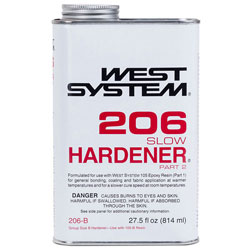 West System 206 Slow Hardener - 27.5 Ounces