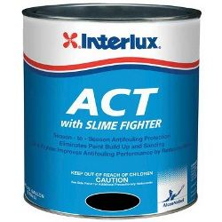 Interlux ACT with Slime Fighter Bottomkote Antifouling Paint