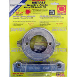 "Performance Metals ""Red Dot"" Volvo / Penta Sacrificial Anode"