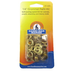 Handi-Man Plain Brass Grommets - 1/4""