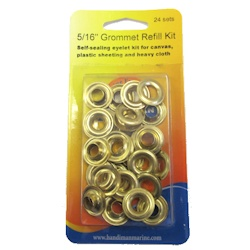 Handi-Man Plain Brass Grommets - 5/16""