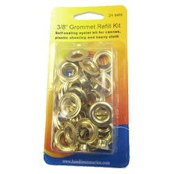Handi-Man Plain Brass Grommets - 3/8""