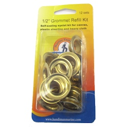 Handi-Man Plain Brass Grommets - 1/2""