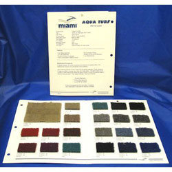 Aqua-Turf Marine Carpet Sample Card