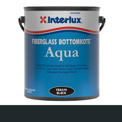 Interlux Fiberglass Bottomkote Aqua Antifouling Bottom Paint - Gallon - Black