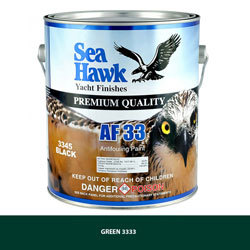 Sea Hawk AF-33 Antifouling Bottom Paint - Green Gallon
