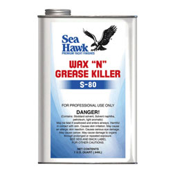 "Sea Hawk S-80 Wax ""N"" Grease Killer"