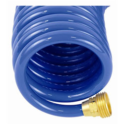 "x 25/' Blue RV Marine//Boat Coiled Wash Down Hose 1//2/"" Dia"
