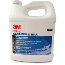 3M Marine Fiberglass Cleaner and Wax - Gallon