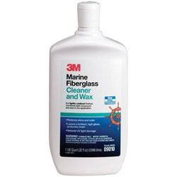 3M Marine Fiberglass Cleaner and Wax - Quart