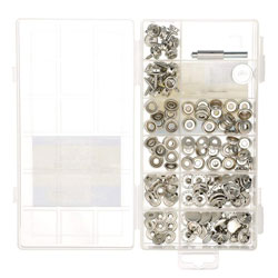 SeaChoice Canvas Snap Kit with Tool - 144 Piece