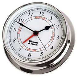 Weems & Plath Endurance 125 Time & Tide Clock - Chrome