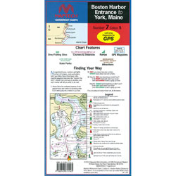 Maptech Folding Waterproof Chart - Boston Harbor to York, Maine