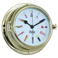 Weems & Plath Endurance II 135 Quartz Clock with 12 Hour Flag Dial