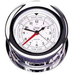 Weems & Plath Atlantis Time & Tide Clock - Chrome Plated