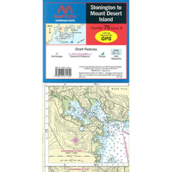 Maptech Folding Waterproof Chart - Maine - Stonington to Mt Desert Island