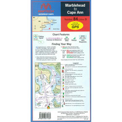 Maptech Folding Waterproof Chart - Marblehead to Cape Ann