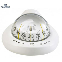 Plastimo Olympic 115 Compass - Horizontal Flush Mount - Conical Card