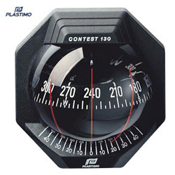 Plastimo Contest 103 Compass - 10-25° Inclined Bulkhead - Black