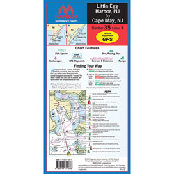 Maptech Folding Waterproof Chart - Little Egg Harbor-Cape May, NJ