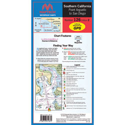 Maptech Folding Waterproof Chart - Point Arguello to San Diego