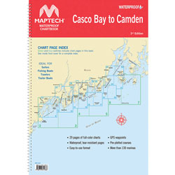 Maptech Waterproof Chartbook - Casco Bay to Camden