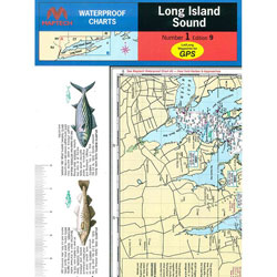 Maptech Folding Waterproof Chart - Long Island Sound