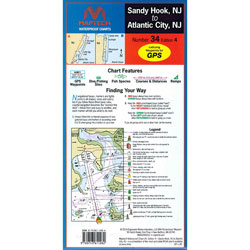 Maptech Folding Waterproof Chart - Sandy Hook to Atlantic City, NJ