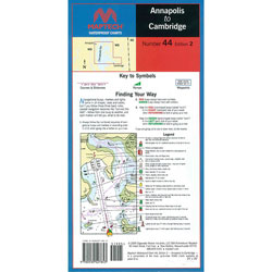 Maptech Folding Waterproof Chart - Annapolis to Cambridge